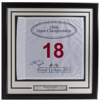 Tiger Woods Signed Custom Framed 2001 Open Royal Lytham Golf Flag (JSA Hologram) at PristineAuction.com