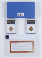 400th Anniversary of the Mayflower Voyage Two-Coin Gold Proof Set with 2020-W $10 Gold Proof Coin (NGC PF70 Ultra Cameo) & (1) £25 Gold Proof Coin (NGC PF69 Ultra Cameo) at PristineAuction.com
