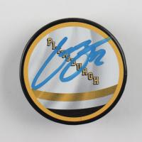 Kasperi Kapanen Signed Penguins Logo Hockey Puck (YSMS COA) at PristineAuction.com