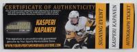 "Kasperi Kapanen Signed Penguins Logo Hockey Puck Inscribed ""Cancer Sucks!"" (YSMS COA) at PristineAuction.com"