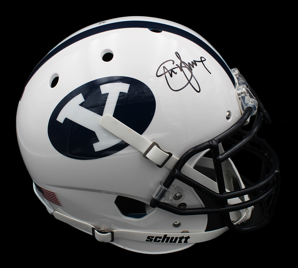 Steve Young Signed BYU Cougars Full-Size Authentic On-Field Helmet (Radtke COA) at PristineAuction.com