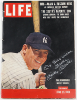 "Mickey Mantle Signed 1956 ""Life"" Magazine Inscribed ""My Best Wishes Thanks"" (PSA LOA) at PristineAuction.com"