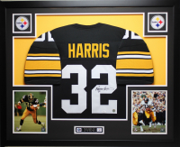 Franco Harris Signed 35x43 Custom Framed Jersey Display (JSA COA) at PristineAuction.com