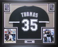 Frank Thomas Signed 35x43 Custom Framed Jersey Display (JSA COA) at PristineAuction.com
