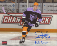 "Sam Lafferty Signed Penguins 8x10 Photo Inscribed ""F*** Cancer"" (YSMS COA) at PristineAuction.com"