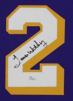 James Worthy Signed 35x43 Custom Framed Jersey Display (JSA COA) at PristineAuction.com