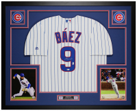 Javier Baez Signed 35x43 Custom Framed Jersey Display (MLB Hologram & Fanatics Hologram) at PristineAuction.com