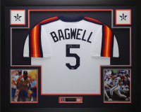 Jeff Bagwell Signed 35x43 Custom Framed Jersey Display (TriStar Hologram) at PristineAuction.com