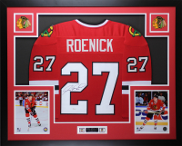 Jeremy Roenick Signed 35x43 Custom Framed Jersey Display (JSA COA) at PristineAuction.com