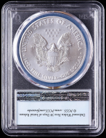 2021 American Silver Eagle $1 One Dollar Coin - First Strike, U.S. Flag Label (PCGS MS70) at PristineAuction.com