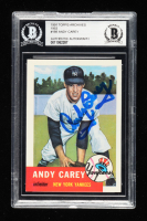 Andy Carey Signed 1991 Topps Archives '53 #188 (BGS Encapsulated) at PristineAuction.com