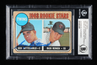 George Mitterwald Signed 1968 Topps #301 Rookie Stars George Mitterwald RC / Rick Renick RC (BGS Encapsulated) at PristineAuction.com