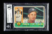Paul Foytack Signed 1960 Topps #364 (BGS Encapsulated) at PristineAuction.com