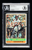 Von Joshua Signed 1976 Topps #82 (BGS Encapsulated) at PristineAuction.com