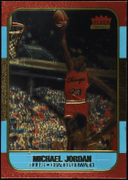 Michael Jordan 1996-97 Fleer Polychrome 10th Anniversary Refractor Gold at PristineAuction.com
