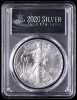 2020-(S) American Silver Eagle $1 One Dollar Coin Emergency Issue - First Strike, Struck at San Francisco Mint - Black Label (PCGS MS70) at PristineAuction.com