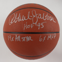 "Kareem Abdul-Jabbar Signed NBA Game Ball Series Basketball Inscribed ""HOF 95"", ""19x All Star"" & ""6x MVP"" (JSA Hologram) at PristineAuction.com"