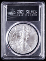 2021-(S) American Silver Eagle $1 One Dollar Coin Type 1, Emergency Issue - First Strike, Struck at San Francisco Mint - Black Label (PCGS MS70) at PristineAuction.com