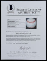 Mickey Mantle Signed OAL Baseball (Beckett LOA) (See Description) at PristineAuction.com