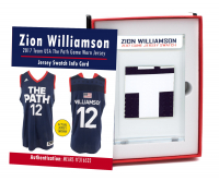 ZION WILLIAMSON 2017 TEAM USA GAME-WORN JERSEY MYSTERY SWATCH BOX! at PristineAuction.com
