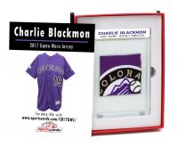 CHARLIE BLACKMON 2017 ROCKIES GAME-WORN MYSTERY SWATCH BOX! PATCHES ONLY! at PristineAuction.com