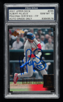 Albert Pujols Signed 2001 Upper Deck #295 SR RC (PSA Encapsulated) at PristineAuction.com