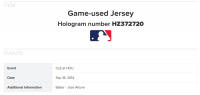 JOSE ALTUVE 2014 ASTROS GAME-WORN JERSEY MYSTERY SWATCH BOX! at PristineAuction.com