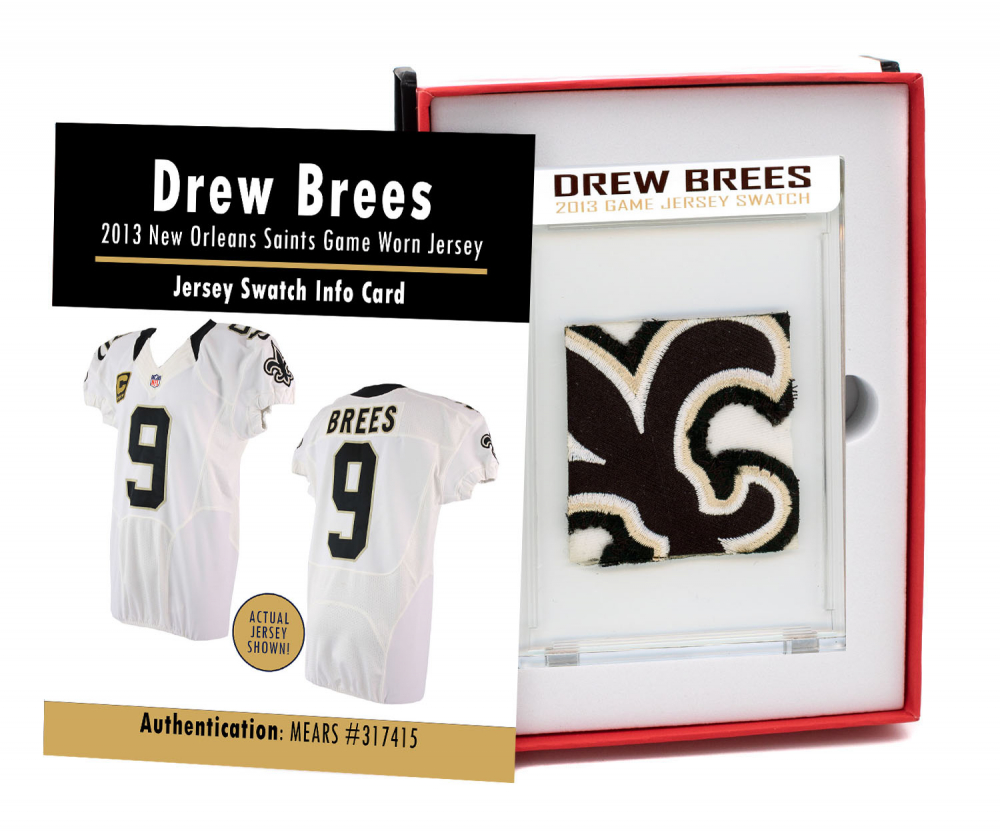 DREW BREES 2013 SAINTS GAME JERSEY MYSTERY SWATCH BOX! at PristineAuction.com