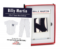 BILLY MARTIN 1976-77 NY YANKEES GAME-WORN UNIFORM MYSTERY SWATCH BOX! at PristineAuction.com