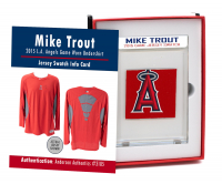 MIKE TROUT 2015 ANGELS GAME-WORN UNDERSHIRT MYSTERY SWATCH BOX! at PristineAuction.com