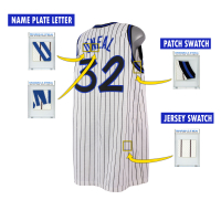 SHAQUILLE O'NEAL 1995 ORLANDO MAGIC GAME-WORN JERSEY MYSTERY SWATCH BOX! at PristineAuction.com