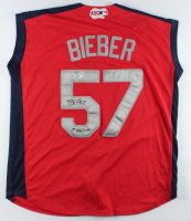 "Shane Bieber Signed 2019 All-Star Jersey Inscribed ""1st ASG / MVP"" (Beckett Hologram) at PristineAuction.com"