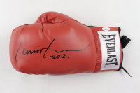 """Lennox Lewis Signed Boxing Glove Inscribed """"2021"""" (JSA COA) at PristineAuction.com"""