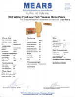 WHITEY FORD 1969 NY YANKEES GAME-WORN PANTS MYSTERY SWATCH BOX! at PristineAuction.com