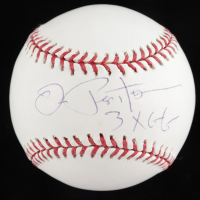 "Joe Pepitone Signed OML Baseball Inscribed ""3x GG"" (TriStar Hologram & MLB Hologram) at PristineAuction.com"