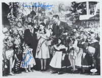"""""""The Wizard of Oz"""" 11x15 Photo Cast-Signed by (4) with Mickey Carroll, Jerry Maren, Karl Slover & Donna Stewart Hardaway (JSA COA) at PristineAuction.com"""