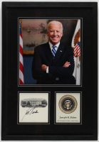 Joe Biden Signed 14.75x21.25 Custom Framed Photo Display (JSA COA) at PristineAuction.com