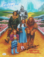 """Mickey Carroll, Jerry Maren & Karl Slover Signed """"The Wizard of Oz"""" 11x14 Print with Multiple Inscriptions (JSA COA) at PristineAuction.com"""