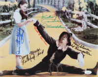 """""""The Wizard of Oz"""" 11x14 Photo Cast-Signed by (5) with Karl Slover, Mickey Carroll, Jerry Maren, Donna Stewart-Hardway with Multiple Inscriptions (JSA COA) at PristineAuction.com"""