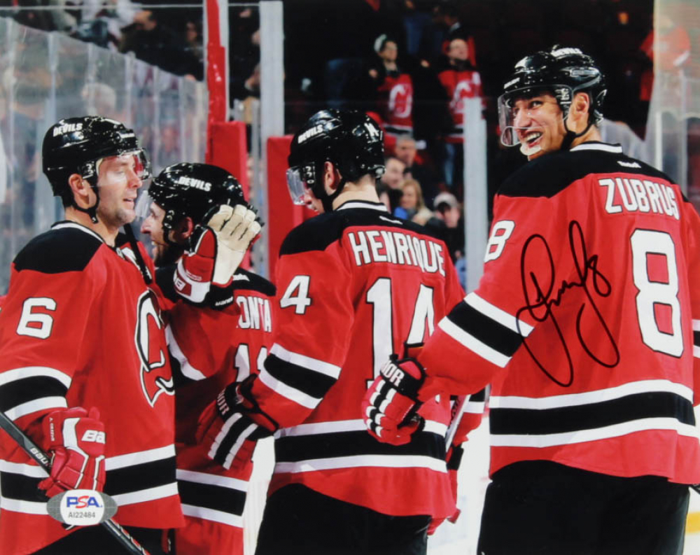 Dainius Zubrus Signed Devils  8x10 Photo (PSA Hologram) at PristineAuction.com