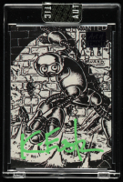 Kevin Eastman Signed 2019 Topps Art of TMNT Purple #27 (Sportscards.com Encapsulated) at PristineAuction.com
