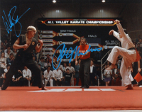 "Ralph Macchio & William Zabka Signed ""Karate Kid"" 16x20 Photo (AutographCOA COA) at PristineAuction.com"
