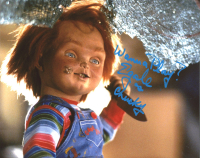 """Ed Gale Signed """"Child's Play"""" 8x10 Photo Inscribed """"Wanna Play?"""" & """"As Chucky"""" (AutographCOA COA) at PristineAuction.com"""