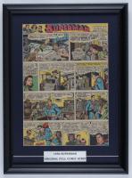 "Vintage 1950 ""Superman"" 14x19 Custom Framed Comic Strip Display at PristineAuction.com"