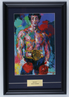 "LeRoy Neiman ""Rocky"" 13x19 Custom Framed Print Display at PristineAuction.com"