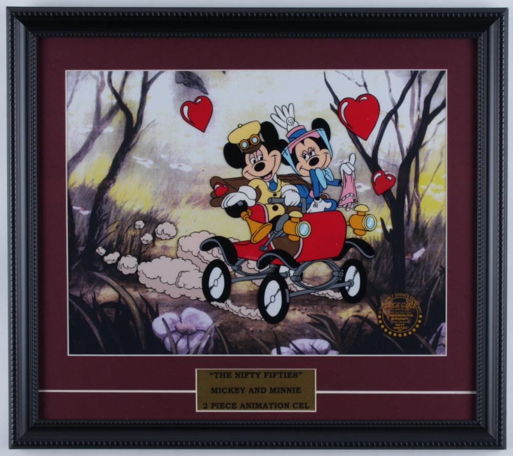 "Walt Disney's LE ""Nifty Nineties"" 16x18 Custom Framed Animation Display at PristineAuction.com"