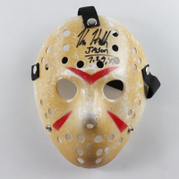 "Kane Hodder Signed ""Friday the 13th"" Mask Inscribed ""Jason 7,8,9,X"" (Legends COA) at PristineAuction.com"