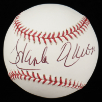 Hank Aaron Signed OML Baseball (Steiner COA) at PristineAuction.com