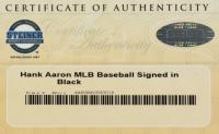 Hank Aaron Signed OML Baseball (Steiner COA) at PristineAuction.com