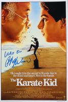 "Ralph Macchio Signed ""The Karate Kid"" 12x18 Photo Inscribed ""Wax On"" (AutographCOA COA) at PristineAuction.com"